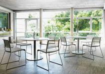 Tavolo moderno / in legno laccato / rettangolare / rotondo