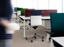 Sedia da ufficio moderna / in tessuto / in plastica / in acciaio