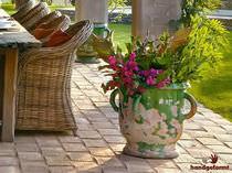 Piastrella da esterno / per pavimento / in terracotta / a rilievo