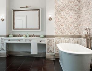 Piastrella da interno da bagno da pavimento in ceramica
