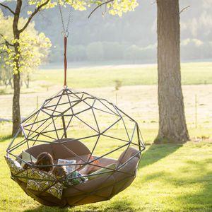 divano moderno / da giardino / in Sunbrella® / in acciaio