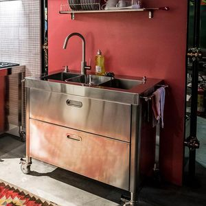 Blocco cucina a gas / professionale / in acciaio inox / in ghisa ...
