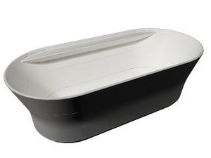 vasca da bagno ovale in pietra naturale