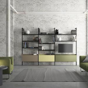 scaffali in vetro - tutti i produttori del design e dell ... - Scaffali Metallo E Vetro