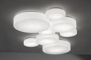 Plafoniere Vetro Moderne : Plafoniera in vetro soffiato tutti i produttori del design e dell