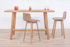 tavolo alto moderno in legno in legno massiccio