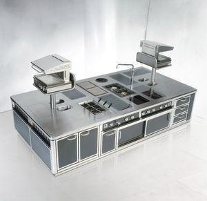 cucina in acciaio inox modulare professionale