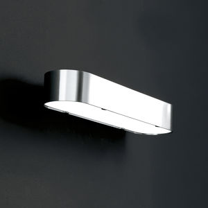 faretto a muro da bagno fluorescente in acciaio