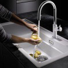Lavello a 1 vasca / in composito / con gocciolatoio - CLASSIC 5 S ...