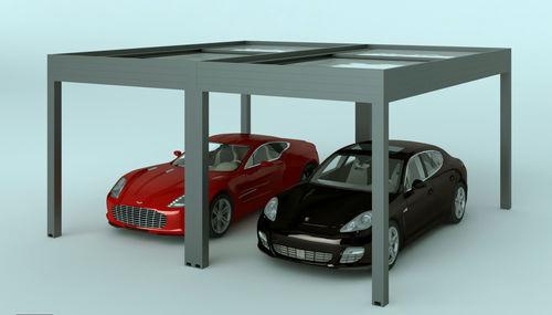 tettoia per posto-auto in alluminio