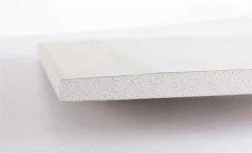 lastra in cartongesso fibrata / per interni / per soffitto / per parete