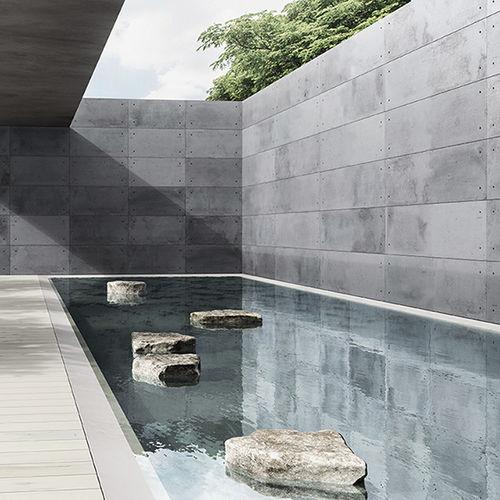 paramento in calcestruzzo / da esterno / da interno / aspetto pietra