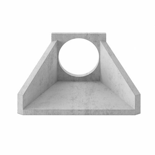 muro di testa in cemento armato / prefabbricato