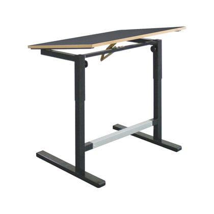 tavolo da disegno in legno / in acciaio / contract / ad altezza regolabile
