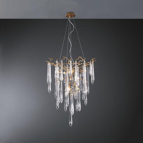 Lampadario classico / in vetro / in bronzo / alogeno CT3259/8 Serip Organic Lighting