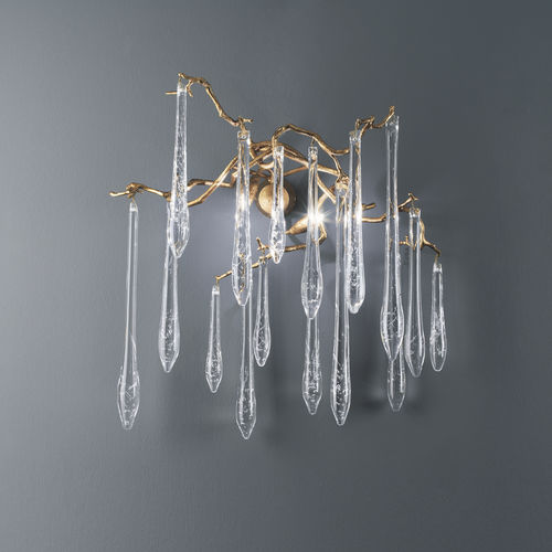 Applique classica / in bronzo / in vetro / alogena AQUA : AP1414/2 Serip Organic Lighting
