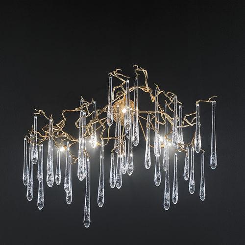 Applique classica / in vetro / in bronzo / alogena AP1423/6 Serip Organic Lighting