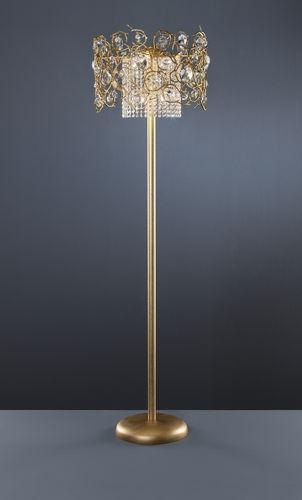 lampada da terra / in stile / in metallo / in cristallo