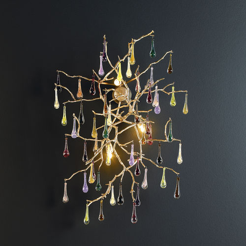 Applique classica / in vetro / in bronzo / alogena BIJOUT AP1421/3 Serip Organic Lighting