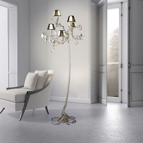 lampada da terra / design originale / in metallo / in vetro