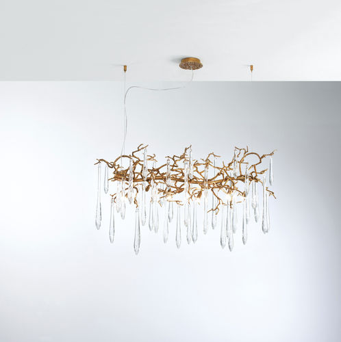 Lampada a sospensione / moderna / in metallo / in vetro AQUA CT3373/8 Serip Organic Lighting