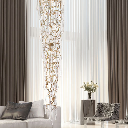 Lampada a sospensione / moderna / in metallo / in vetro AQUA CT3375/32 Serip Organic Lighting