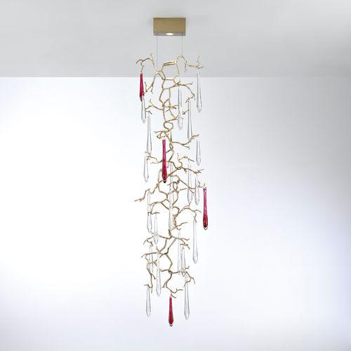 Lampada a sospensione / moderna / in metallo / in vetro AQUA : PL356/1 Serip Organic Lighting