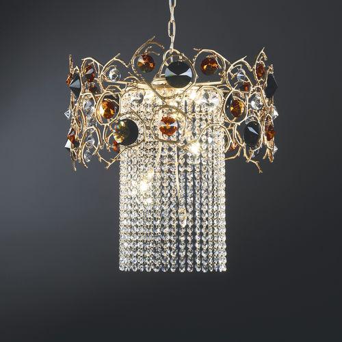 lampada a sospensione / in stile / in bronzo / in cristallo