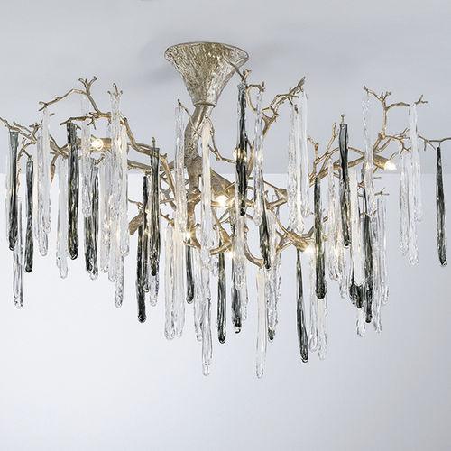 plafoniera classica / in vetro / in bronzo / alogena
