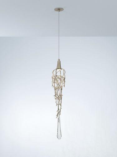 lampada sospesa / moderna / in bronzo / in vetro
