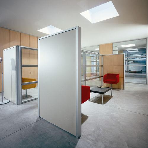 parete fissa / in vetro / da ufficio / per open space
