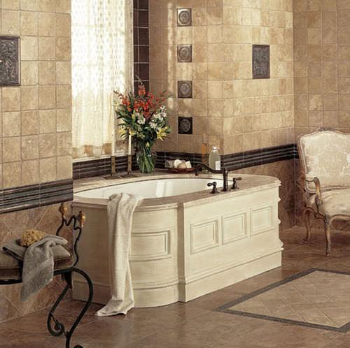piastrella da interno / da bagno / da pavimento / in metallo