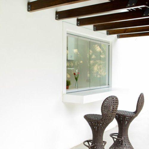 finestra scorrevole impilabile / in alluminio