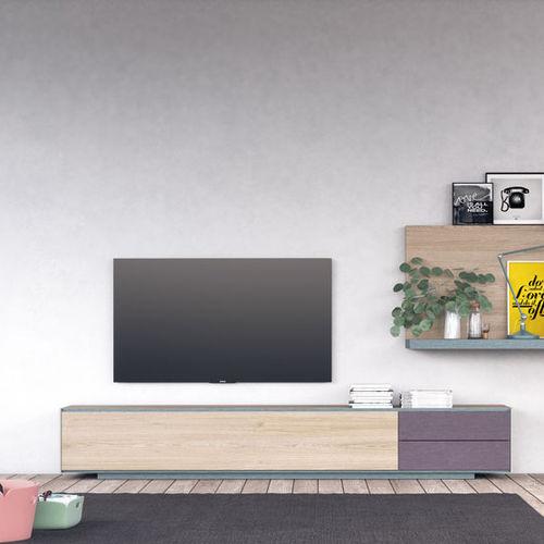 mobile porta TV moderno / lowboard / in legno