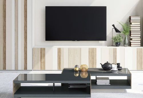 tavolino basso moderno / in legno / da interno / con contenitore