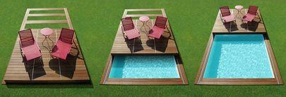 copertura per piscina piatta / in legno / ad azionamento manuale