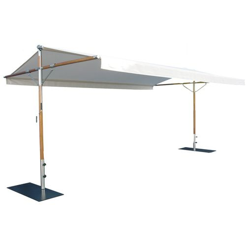 tenda da sole autoportante / manuale / a doppia pendenza / bianca