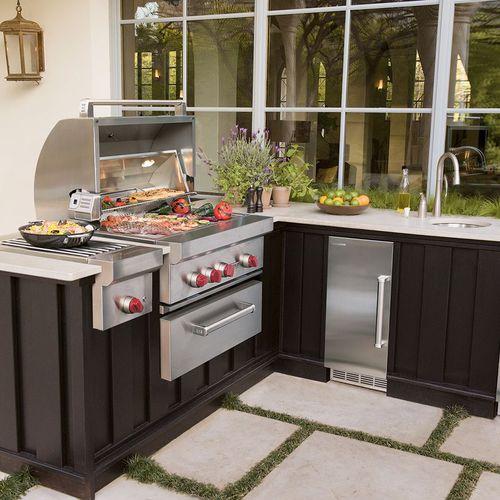 barbecue a gas / da incasso / in metallo