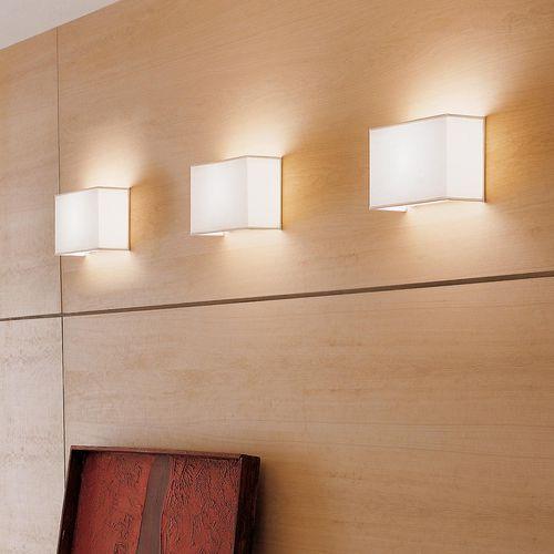 applique moderna / in vetro / in tessuto / a lampada fluorescente