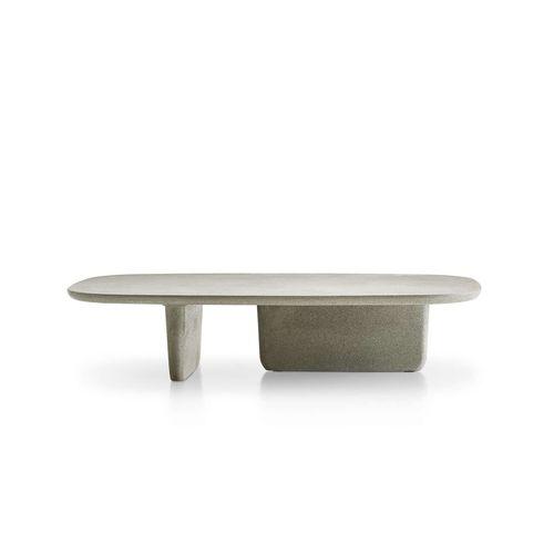 tavolino basso moderno / in acciaio inossidabile / in calcestruzzo / in termoplastica