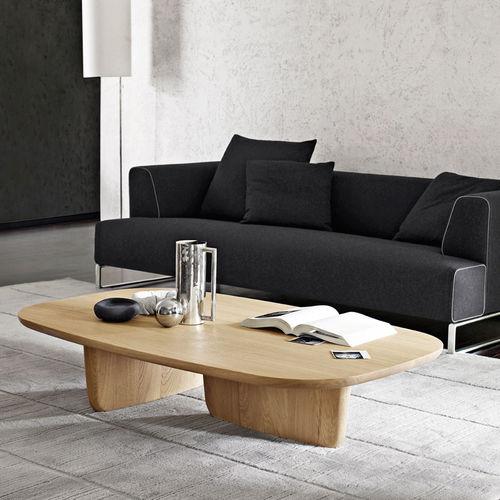 tavolino basso moderno / in quercia / ovale / da interno