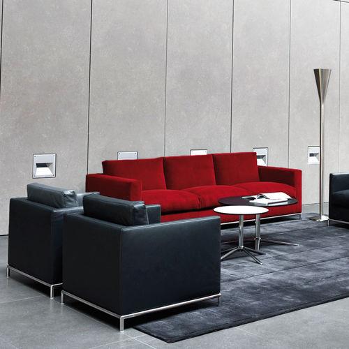 divano moderno / in pelle / in tessuto / per edifici pubblici