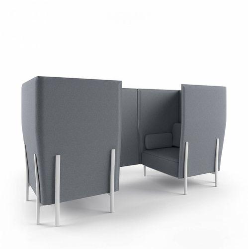 divano modulare / moderno / in tessuto / in alluminio