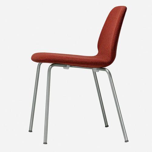 sedia moderna / con rotelle / girevole / impilabile