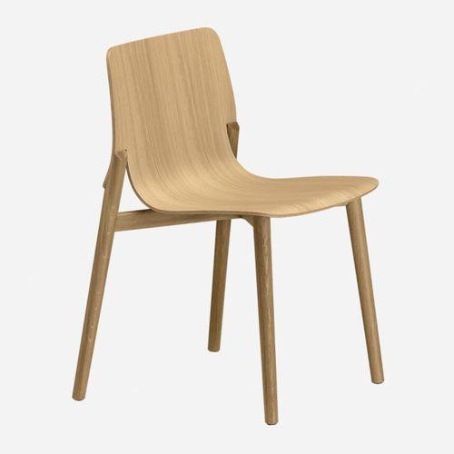 sedia moderna / imbottita / impilabile / in tessuto