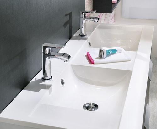 piano lavabo doppio / in marmo