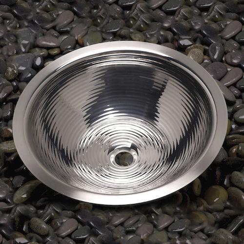lavabo da incasso / tondo / in acciaio inossidabile / moderno