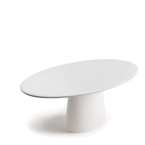 tavolo moderno / in legno laccato / tondo / ovale