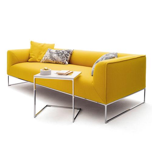 tavolo d'appoggio moderno / in acciaio / rettangolare / bianco