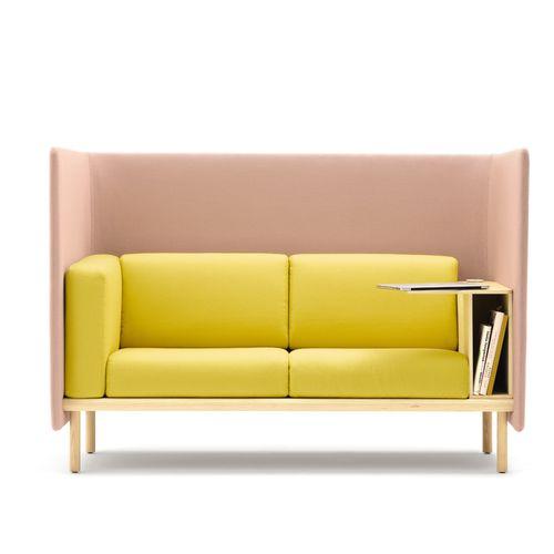 divano modulare / moderno / in tessuto / in legno